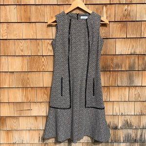 Calvin Klein | Leather Trim Jersey Dress